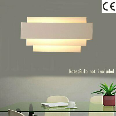 UK FAST Modern Indoor Up Down Flush Wall Light Curved Sconce Lighting Lamp DB