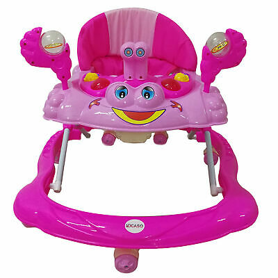 New Pink Baby Walker Push Top Quality Activity Musical Melody Toy Along Ride On
