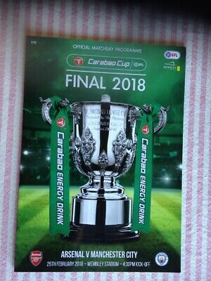 * 2018 CARABAO CUP FINAL PROGRAMME - ARSENAL v MAN CITY (25th February 2018) *