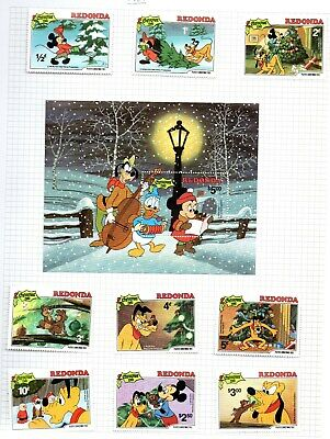 Mixed Disney Characters 68 Page Album Of Mint Mini Sheets & Stamps
