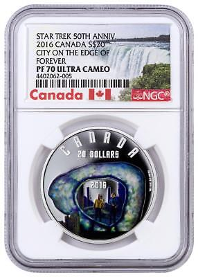 2016 Canada Silver $20 Star Trek: City On The Edge Of Forever - PF70 UC NGC Coin