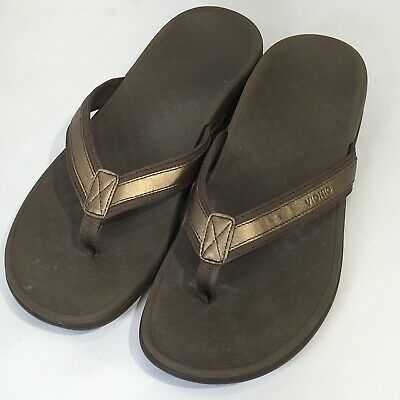2e8db214d60 Vionic Tide II Womens Thong Flip Flop Sandals 8   311 US Bronze Orthaheel
