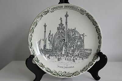 French Universal exhibition Paris 1900 Plate Choisy le Roi Majolica exposition 5