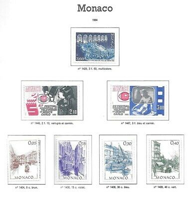 Monaco Neufs ** MNH Lot 1984 sous faciale/below face 9 euros