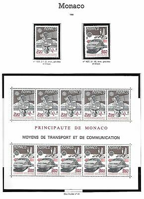 Monaco Neufs ** MNH Lot 1988 sous faciale/below face 7.5 euros