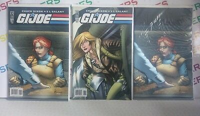 IDW G.I. Joe Comic Books Issue 7 Set All 3 Variant Covers A, B & R1 Carded/Mint