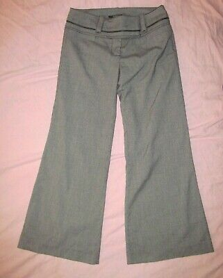 XOXO Black and gray Pinstripe Flared Wide leg cropped pants Women size 0 / 0