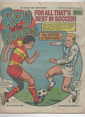 Roy of the Rovers (Vintage Comic) 25th January 1986