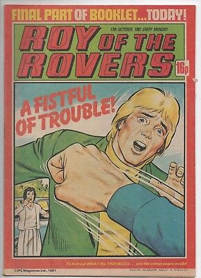 Roy of the Rovers (Vintage Comic) 17th October 1981