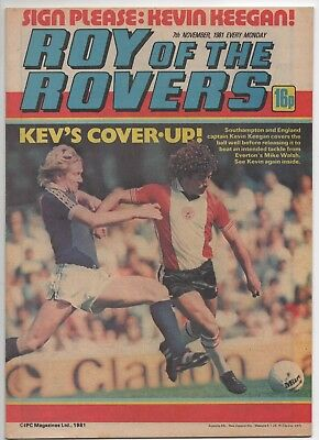 Roy of the Rovers (Vintage Comic) 7th November 1981