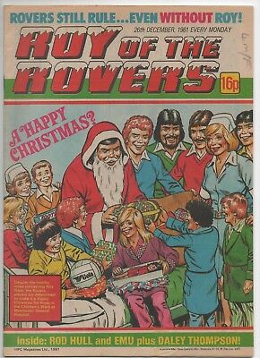 Roy of the Rovers (Vintage Comic) 26th December 1981