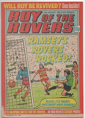 Roy of the Rovers (Vintage Comic) 16th January 1982