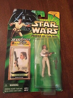 2000 Star Wars Power Of The Jedi Leia Organa Action Figure,MISP (B133)