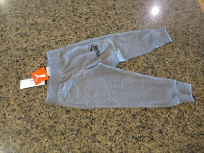Puma Kids youth 4 boys Girls Track Athletic warm up Sweat Pants gray NWT