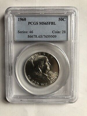 1960 50c PCGS MS65 FBL - Franklin Half Dollar