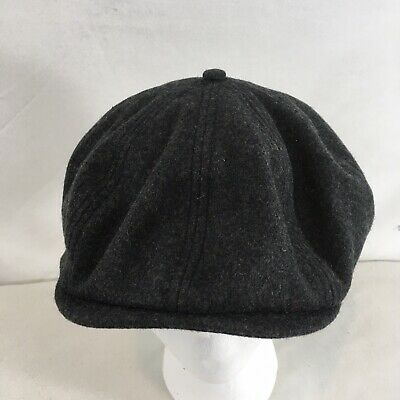 d58c802fed1b4 NEW Goorin Bros San Francisco Mens XL Charcoal Gray Newsboy Cabbie Wool Hat