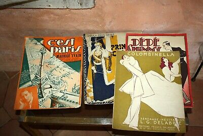 4 Magazines partition musical Illustrations R. DE VALERIO ancienne 1920/30