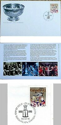 NHL STANLEY CUP Centennial Canadian 1st Day Postal Cover