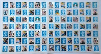 100 Unfranked Second Class Mixed Stamps With Glue Easy Peel Face Value £58