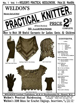 Weldon's ez-finder Knitting Editions c.1885-1889 Rare Vintage Knitter Patterns