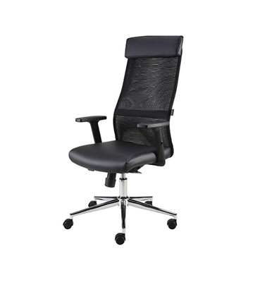 Eliza Tinsley THEBES - Mesh Back Swivel Office Computer Operators Chair - Black