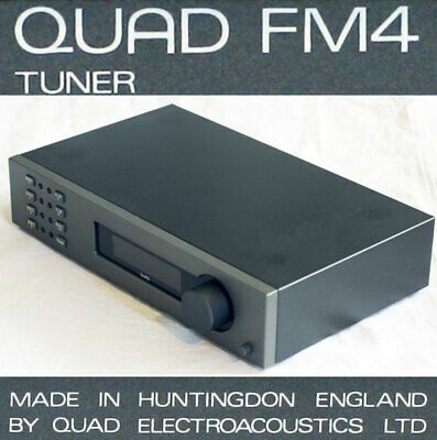 Beautiful Quad FM4 stereo FM tuner. Late grey version with phono sockets.