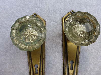 Vintage Antique Brass Door Hardware -SET #19