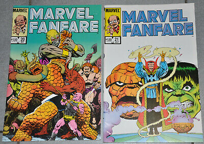 US-Comic: Marvel Fanfare 20 +21:Thing vs. Hulk, Dr. Strange, Jim Starlin story