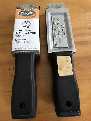 2 DO-IT SPLIT Shot Sinker Mold Removable 3170 RM-14-38 and 3172 RM-20-S4