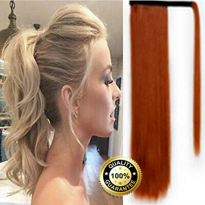 """100% Real Thick Clip On Ponytail 18-26"""" Long Soft As Human Hair Piece Mix C"""
