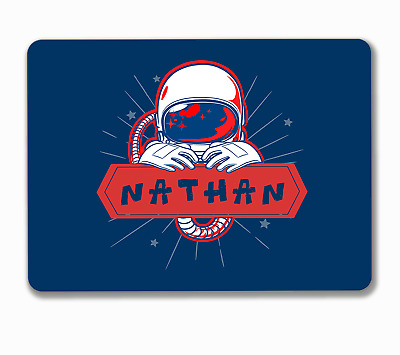 Spaceman astronaut kids personalised bedroom hanging or fixed sign aluminium