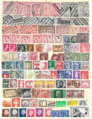 Europe stamps collection: Belgium, France, Hungary, Netherland