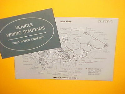 1963 ford 300 galaxie 500 xl sunliner victoria factory original wiring  diagrams