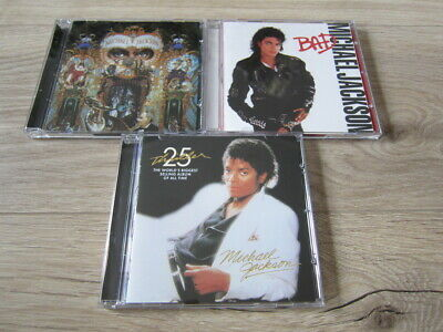 Michael Jackson 3CD Set Thriller Bad Dangerous