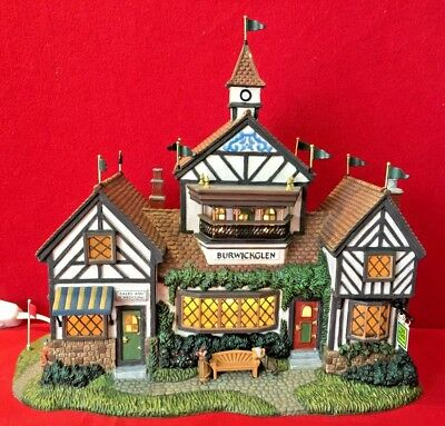 Burwickglen Golf Clubhouse Dept 56 Dickens Village 58477 Christmas club snow A