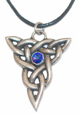 Viking Triquetra pendant Pewter on leather thong  ASGARD Scotland