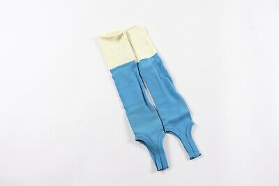 Vtg 80s Twin City's Youth Nylon Stirrup Sport Socks Carolina Blue Soccer Socks