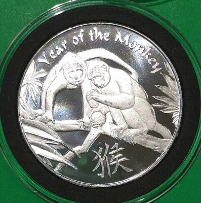 Year Of The Monkey Collectible Coin 1 Troy Oz .999 Fine Silver Ag Round Medal