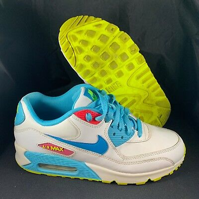 NIKE AIR MAX 90 345017 123 White Turquoise Pink Lime