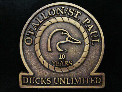 QE05156 *NOS* VINTAGE 1970s **O'FALLON/ST. PAUL DUCKS UNLIMITED** HUNTING BUCKLE