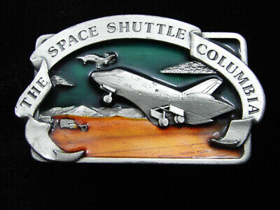 Rd05119 Vintage 1982 **The Space Shuttle Columbia** Commemorative Belt Buckle
