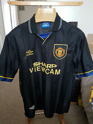 Rare Old Manchester United Away  1993    Football  Shirt  Size Large