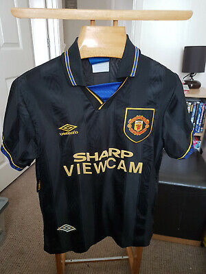 Rare Old Manchester United Away  1993    Football  Shirt  Size Small