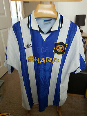 Rare Old Manchester United Away  1994   Football  Shirt  Size Xx Large
