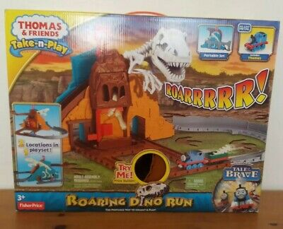 THOMAS & FRIENDS Take-n-Play Roaring Dino Run with Sounds +