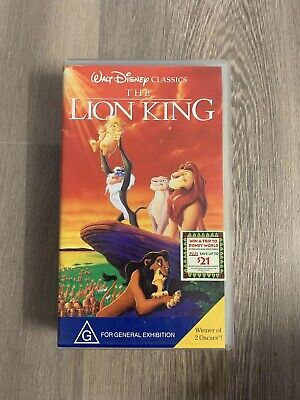 The Lion King VHS Video Tape