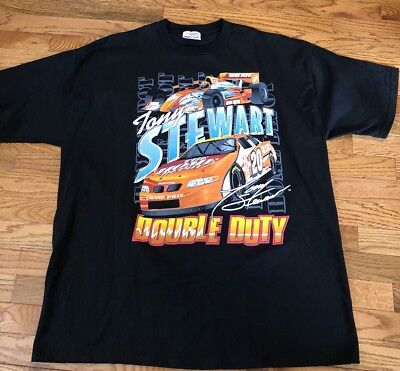 8bc60e51 Tony Stewart NASCAR Racing Home Depot Chase Authentics XL T-Shirt VTG 90s  1999