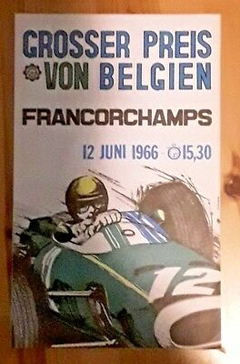 Flyer 1966 Belgium F1 Grand Prix Spa Francorchamps Surtees Jochen Rindt Brabham