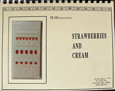 Ilse Altherr Strawberries and Cream Sampler Counted Thread Chart/Pattern