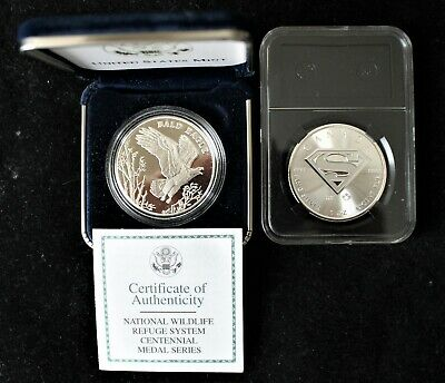 2016 Canada Superman Silver Coin + 2003 Proof Wildlife Refuge Silver Medal